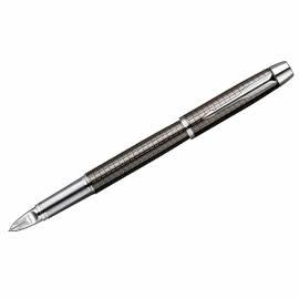 "Ручка Пятый пишущий узел ""IM Premium Deep Gun Metal Chiselled CT"" черная, 0,8мм, подар. уп."