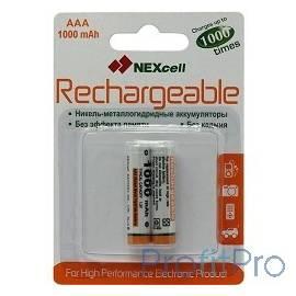 Nexcell AAA1000-2B Аккумуляторы Nexcell Ni-MH, AAA1000 mAh 2шт.