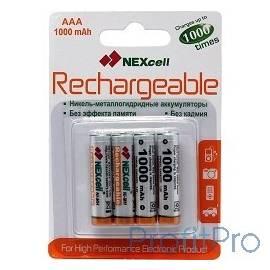 Nexcell AAA1000-4B Аккумуляторы Nexcell Ni-MH, AAA1000mAh 4шт.