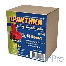 Аккумулятор ПРАКТИКА NiCd 12В, 1,5Ач, для BOSCH коробка [031-631]