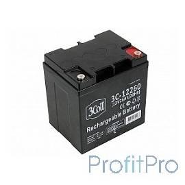 3Cott Аккумулятор 3C-12260 (12 В/26Ач) 0280574