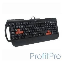 Keyboard A4Tech X7-G700 (черный), PS/2, провод. игровая многофункц. кл-ра