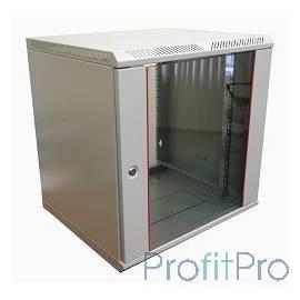 ЦМО! Шкаф телеком. настенный разборный 12U (600х520) дверь стекло (ШРН-Э-12.500)(1 коробка)