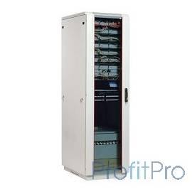 ЦМО! Шкаф телеком. напольный 27U (600x800) дверь стекло (ШТК-М-27.6.8-1ААА) (2 коробки)