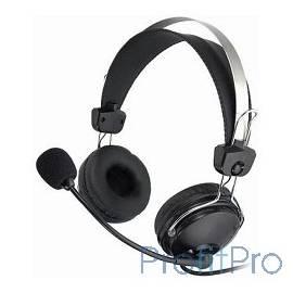 A4Tech HS-7P, Черный Гарнитура стерео, монитор. типа, закрытые, рег. громкости с выкл, 20-20000Гц 32 Ом 97дБ, кабель, 3.5 jack