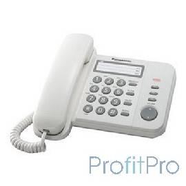 Panasonic KX-TS2352RUW (белый) индикатор вызова,порт для доп. телеф. оборуд.,4 уровня громкости звонка