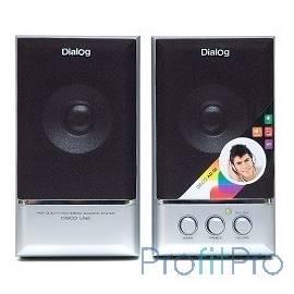 Dialog AD-06 black 2.0, 2*12W RMS, активные, встр. б/п