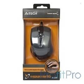 A4Tech N-500F V-TRACK (серый глянец/черный) USB, 3+1 кл.-кн.,провод.мышь