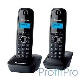 Panasonic KX-TG1612RUH (серый) Доп трубка в комплекте,АОН, Caller ID,12 мелодий звонка,поиск трубки