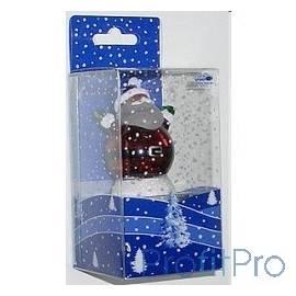 ORIENT NY6006 Дед Всем Привет , наполнен жидкостью с блесками, многоцветная подсветка, питание от USB