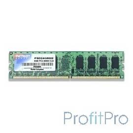 Patriot DDR2 DIMM 4GB PSD24G8002(81) (PC2-6400, 800MHz)