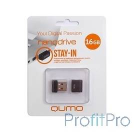 USB 2.0 QUMO 16GB NANO [QM16GUD-NANO-B] Black