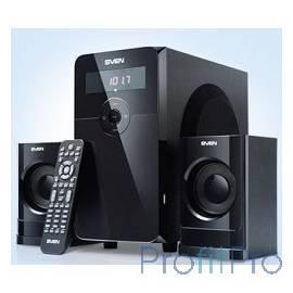 SVEN MS-2000 2.1 цвет черный глянцевый, FM-тюнер, ПДУ, USB и SD разъемы