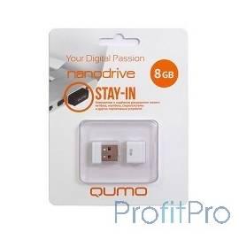 USB 2.0 QUMO 8GB NANO [QM8GUD-NANO-W] White
