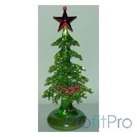 ORIENT 303G Новогодняя елка, зеленый перламутр, красная звезда, подсветка, c музыкой детства, питание от USB/встроенная батаре