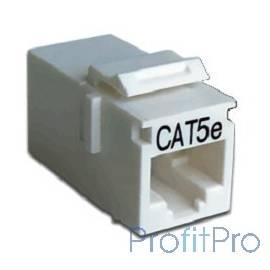 Hyperline CA2-KJ-C5e-WH Проходной адаптер (coupler), RJ-45(8P8C) формата Keystone Jack, категория 5e, 4 пары, белый