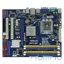 ASRock G41C-GS RTL/R 2.0LGA775, G41, DDR3, PCI-E, 6ch Audio, LAN, SATAII, D-Sub, mATX