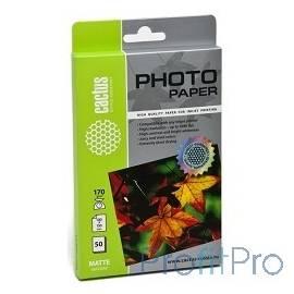 CACTUS CS-MA617050 Фотобумага Cactus CS-MA617050 матовая, 10x15, 170 г/м2, 50 листов