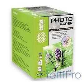 CACTUS CS-GA6200500 Фотобумага Cactus CS-GA6200500 глянцевая, 10x15, 200 г/м2, 500 листов.