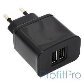 KS-is Toss KS-056B Зарядное ус-во 2 порта USB для цифр технки 2000мА от сети ЧЕРНЫЙ