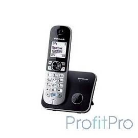 Panasonic KX-TG6811RUB (черный) Беспроводной DECT,40 мелодий,телефонный справочник 120 зап.