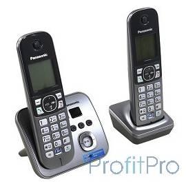 Panasonic KX-TG6822RUM (серебристый) Беспроводной DECT,громкая связь,автоответчик,определитель номера,телефонный справочник 120