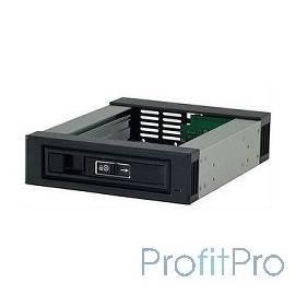 Procase L3-101-SATA3-BK Hot-swap корзина 1 SATA3/SAS 6Gb, черный, с замком, hotswap aluminium mobie rack module (1x5,25) 1xFAN