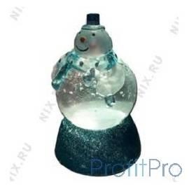 ORIENT NY6010 Снеговичок-Толстячок , синий шарф, наполнен жидкостью с блесками, многоцветная подсветка, питание от USB