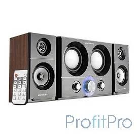 Акустическая система 2.1 CROWN CMS-3800 (16W+10W*2 (RMS)36W приёмник FM картридер интерфейс USB IR пульт)