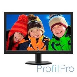 "LCD PHILIPS 23.6"" 243V5LSB (00/01) черный TN 1920 x 1080, 250, 5ms, 1000:1, 170/160, D-SUB, DVI"