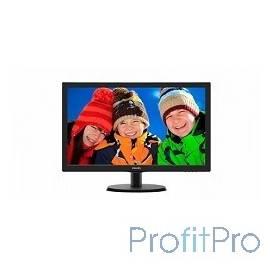 "LCD PHILIPS 21.5"" 223V5LSB2 (10/62) черный TN, 1920x1080, 5 ms, 90°/65°, 200 cd/m, 10M:1 D-Sub"