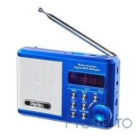 Perfeo мини-аудио Sound Ranger, FM MP3 USB microSD In/Out ридер, BL-5C 1000mAh, синий (PF-SV922BLU)