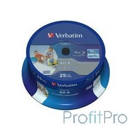 Verbatim BD-R 25 GB 6x CB/25 Full Ink Print NO ID (43811)