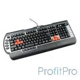 Keyboard A4Tech G800V, USB (чёрная), 128 клавиш,15 игровых клавиш, мультимедиа, USB, влагозащищенная