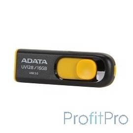 A-DATA Flash Drive 16Gb UV128 AUV128-16G-RBY USB3.0, Black-Yellow