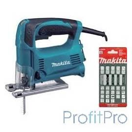 Makita 4329X1 Ручной электро лобзик [4329X1] 450Вт,500-3100об\м,ход-18мм,рез-65мм,1.9кг,кор,маятн,набор A-86898