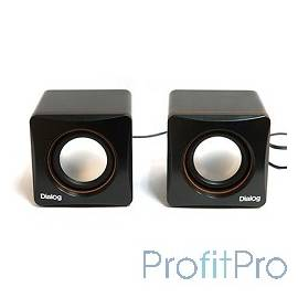 Dialog Colibri AC-04UP BLACK-ORANGE акустические колонки 2.0, 6W RMS, пит. от USB