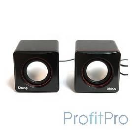 Dialog Colibri AC-04UP BLACK-RED акустические колонки 2.0, 6W RMS, питание от USB