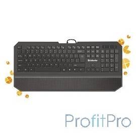 Defender Oscar SM-600 Pro Black USB [45602] Клавиатура проводная Pro 104+6кн, 13 доп.ф-ций