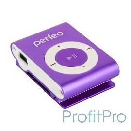 Perfeo цифровой аудио плеер Music Clip Titanium, фиолетовый (VI-M001 Purple)