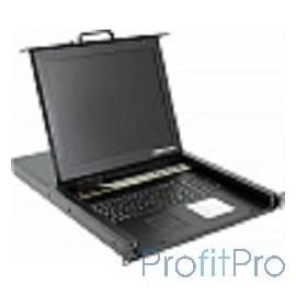 ProCase E1708 Консоль однорельсовая , КВМ 8 порт, LCD 17&apos&apos, single rail console KVM 8 port, LCD D-Sub, USB, разрешение