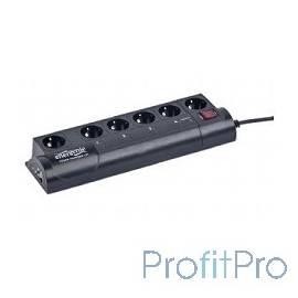 Energenie Сетевой фильтр EG-PMS2-LAN программируемый, черный (10А, LAN, 6 розеток)