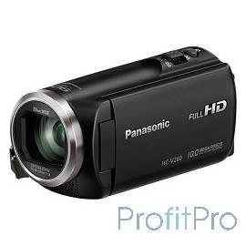 """Видеокамера Panasonic HC-V260 черный 2.7"""", 4224 x 2376, 2.2Mpx, 50x ZOOM, AVCHD Progressive, iFrame/MP4, SD, SDHC,SDXC"""