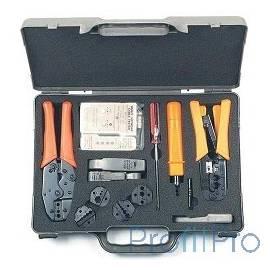 Hyperline HT-4015 Набор инструментов для инсталляции сети (инструмент обжимной для RJ-45/12/11, инструмент обжимной для RG-6/