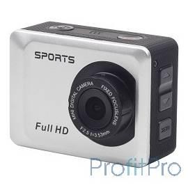 Экшн-камера Gembird ACAM-002 5MP, 1920 x 1080 FHD (30 fps), ЖК дисплей 2.0&apos, TF/Micro SDHC, USB 2.0, подводный бокс + крепл