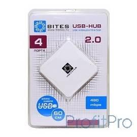 5bites HB24-202WH Концентратор 4*USB2.0 / USB 60CM / WHITE