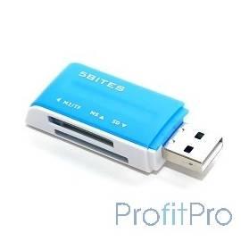 5bites RE2-102BL Устройство ч/з карт памяти USB2.0 / ALL-IN-ONE / USB PLUG / BLUE