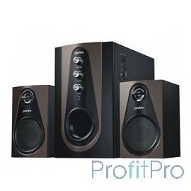 "Perfeo ""Scenic"" PF-103-BT, чёрно-коричневый BLUETOOTH, FM-тюнер, USB/SD, ПДУ, 20Вт+5х2Вт"