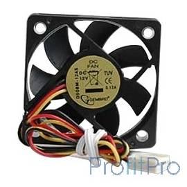 Gembird Вентилятор 50x50x10, подшипник, 3pin, провод 25 см [D50BM-12AS]