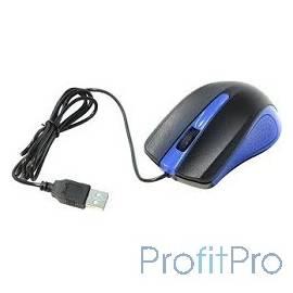 Oklick 225M черный/синий Мышь оптическая (1200dpi) USB (3but) [288233]